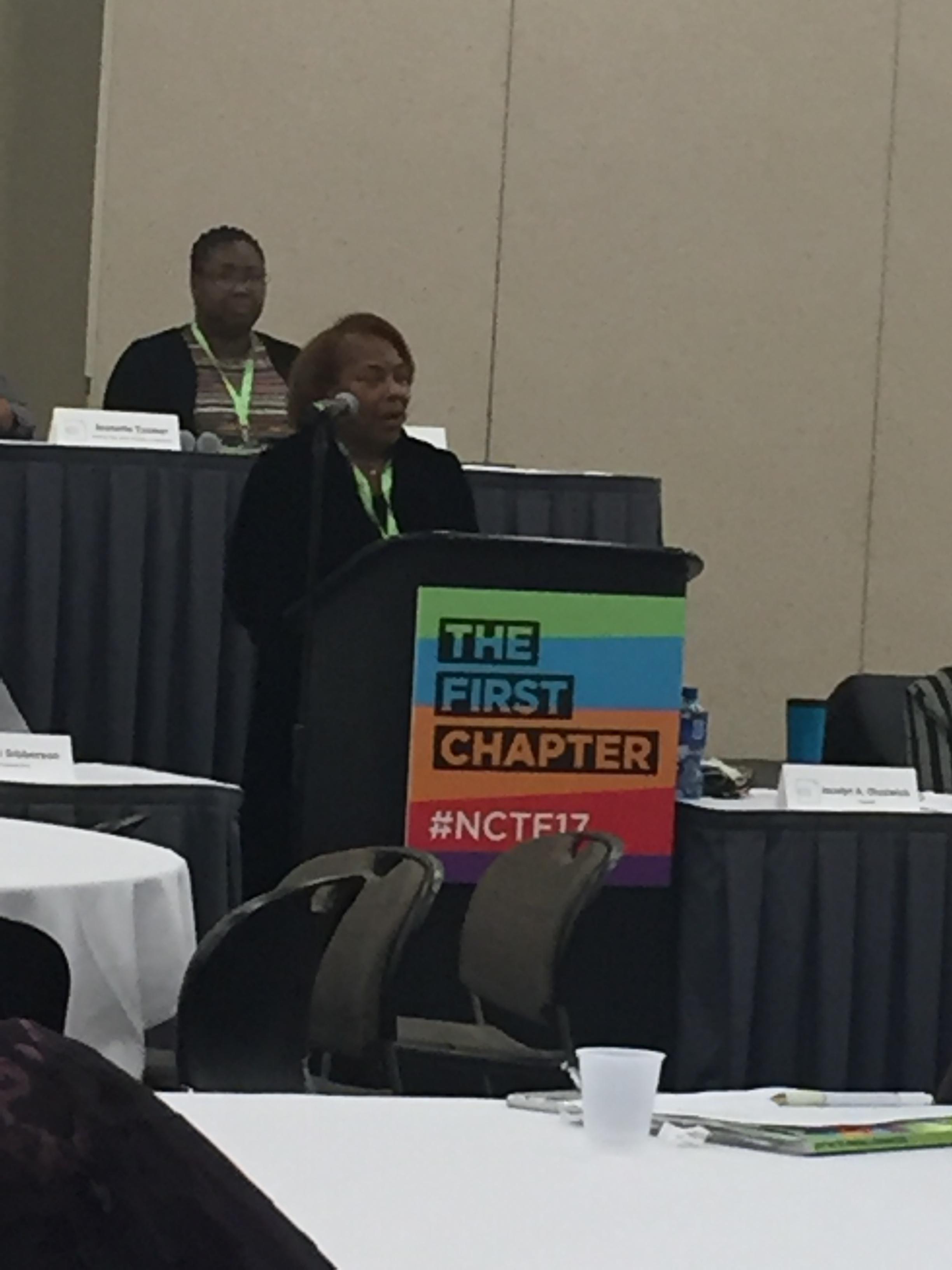 Chadwick addresses NCTE Business Meeting