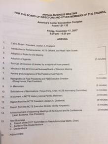 NCTE Business Meeting Agenda